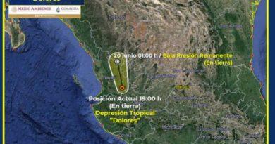 Dolores se aleja de Jalisco; seguirán las lluvias
